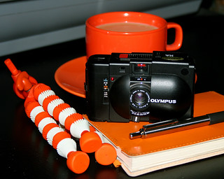 Olympus XA and Orange Accessories | by Wayne Young Photo