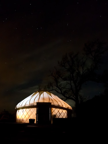 Yurt at West Moss-Side | by M.E. Sanseverino