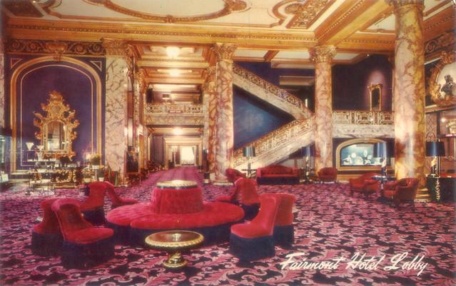Fairmont Hotel Lobby Dorothy Draper Design 1940s Flickr