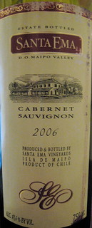 Santa Ema 2006 Cabernet Sauvignon (front) | by 2 Guys Uncorked