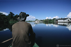 A fisherman goes out in search of Piranha | by World Bank Photo Collection