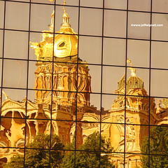 Iowa State Capitol Reflected in Nearby Office Building | by Jeff Wignall