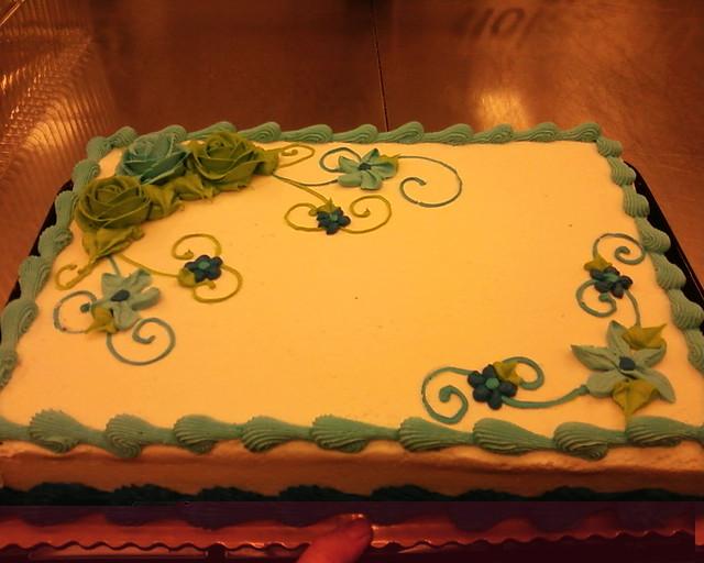 Visions Floral Art And Cake Design : lt blue neon green flower sheet cake Olivia Flickr