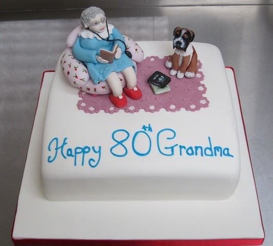Cake Design For Grandma : grandma we love you cake Grandma 80th birthday cake ...
