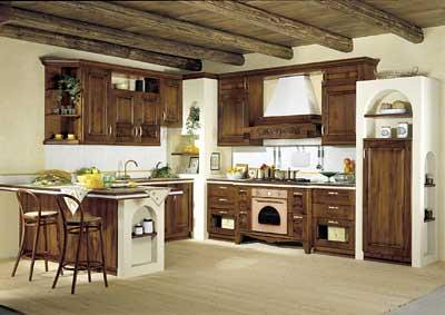 Cucina in arte povera a forma di U in muratura | Cucina con … | Flickr