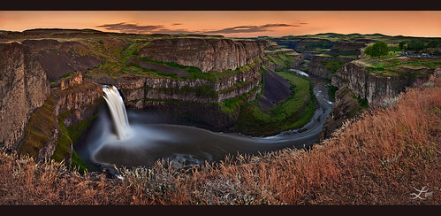 Springtime Sunset at Palouse Falls | by Laura A Knauth