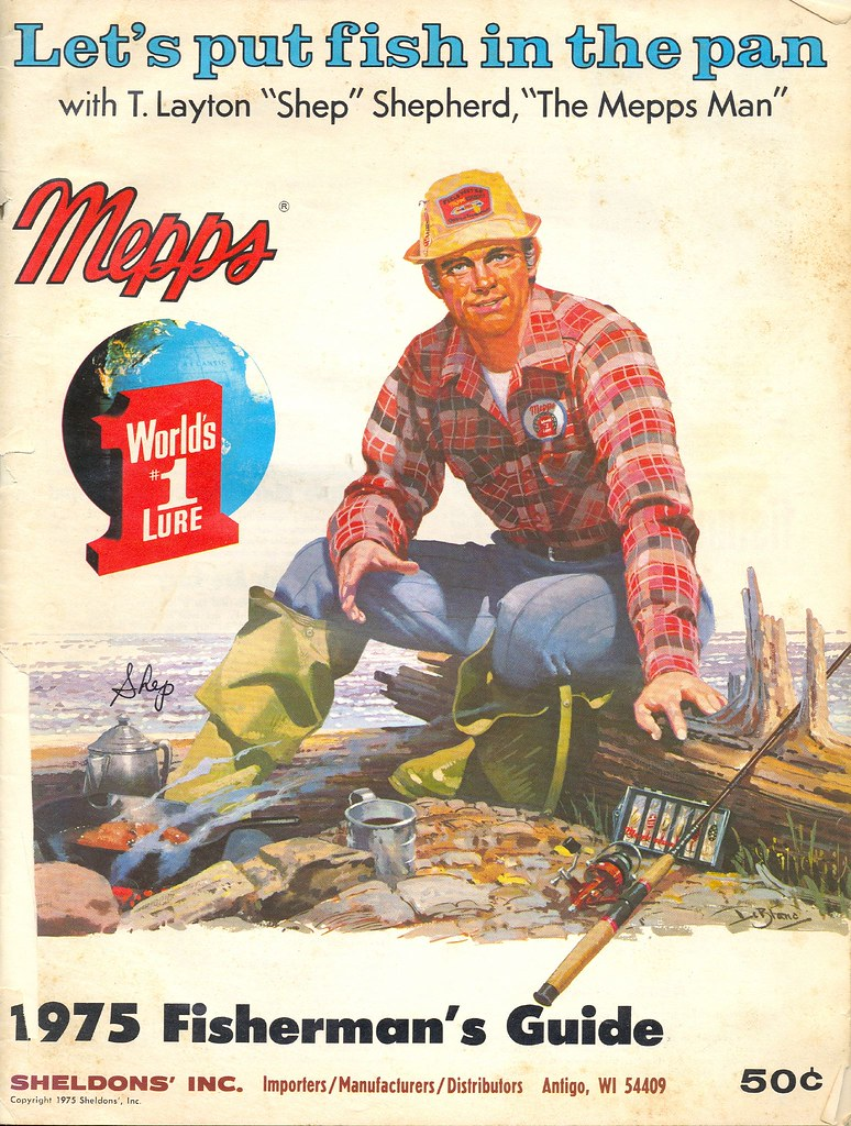 Fishing collectible 1975 mepps catalog and how to fisherma for Free fishing catalogs