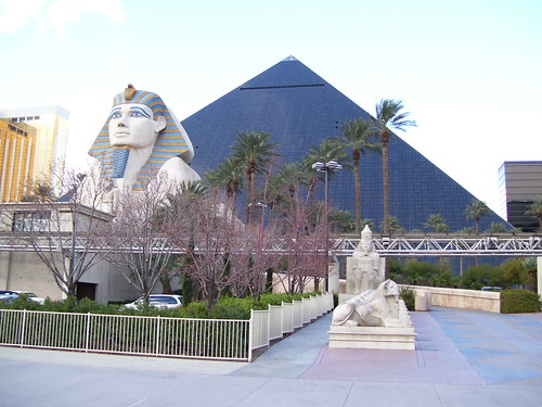 View of the Luxor from The Strip | by macmaroon