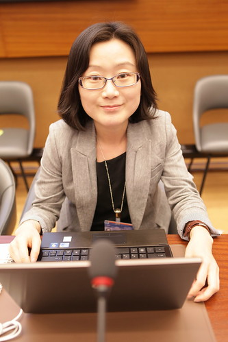 Kwon Eun Kyoung at Panel at the United Nations with Internet Freedom Fellows | by US Mission Geneva