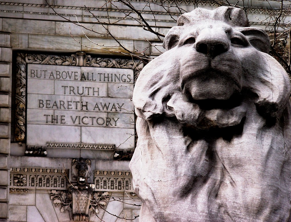 Nypl Lion Fortitude And Truth Quot But Above All Things