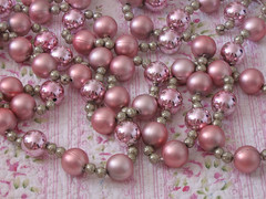 Vintage-style Pink & Glitter Garland | by Treasured Heirlooms