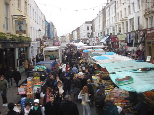 portobello road market took from a bus overlooking the hus flickr. Black Bedroom Furniture Sets. Home Design Ideas