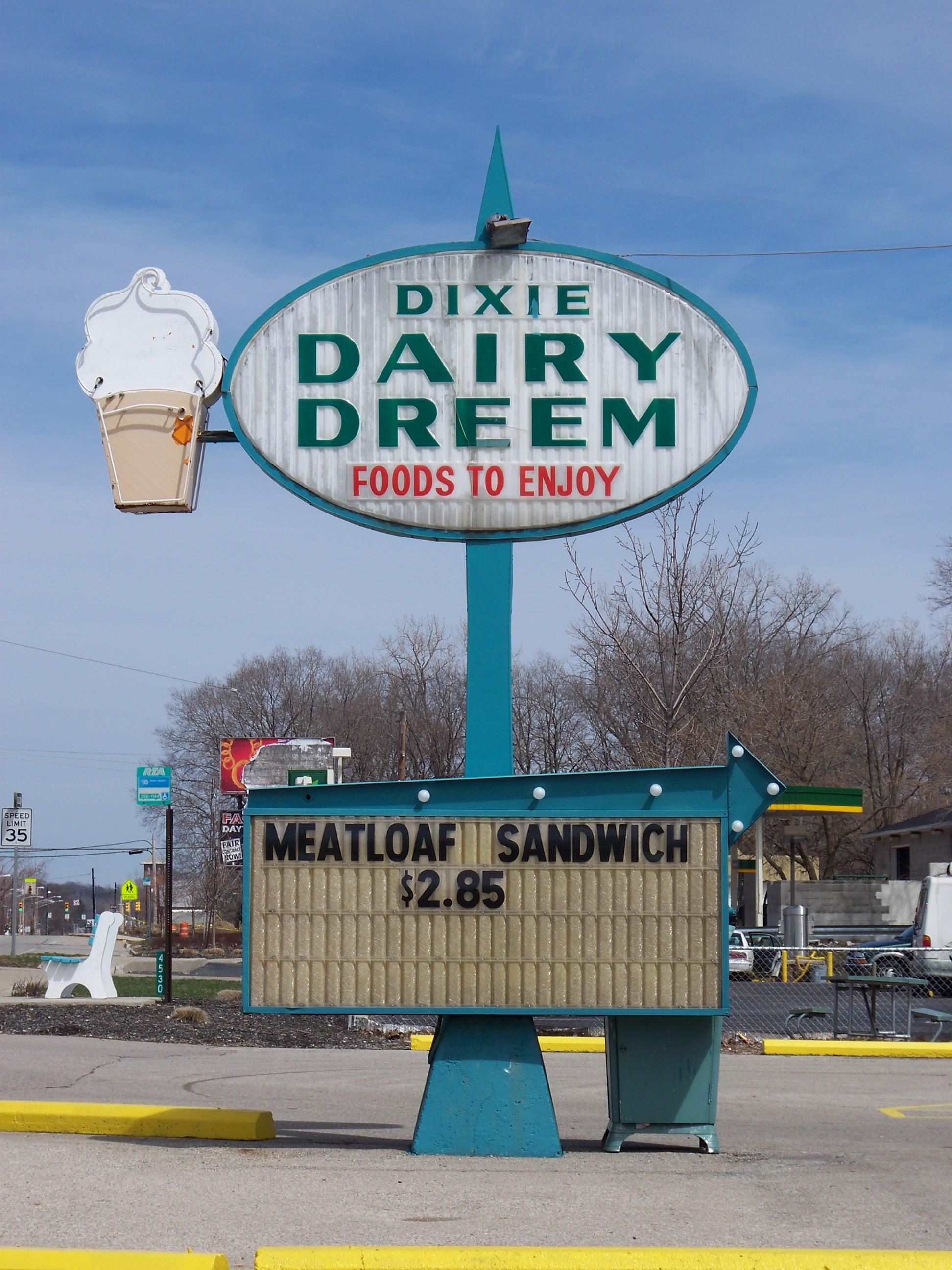Dixie Dairy Dreem - 4542 South Dixie Drive, Dayton, Ohio U.S.A. - March 29, 2008