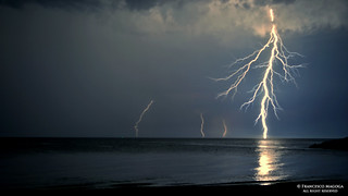 Sturla beach raining lightnings | by Francesco Magoga Photography