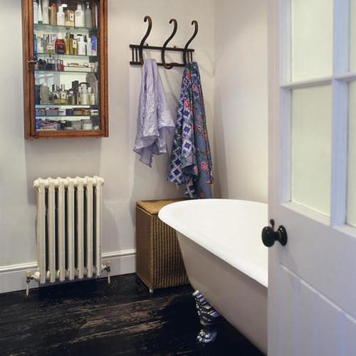 Painted Wood Bathroom Floor
