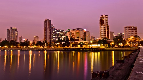 San Diego skyline at dusk | by slack12
