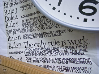 the only rule is work | by litherland