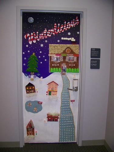 Christmas Door Decorating Contest Rubric : Work door decorating contest iis chris flickr
