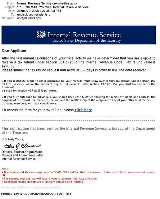 Tax Refund Chart: Evil IRS Tax Refund Phishing Scam | More Info: Evil IRS Tax u2026 | Flickr,Chart