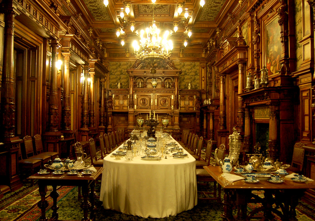 Dining Room   Arguably Romania s most beautiful castle  Cast    Flickr. Most Beautiful Dining Room Pictures. Home Design Ideas