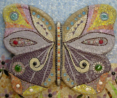 butterfly grouted, | by Mosaic Designs By Annie B