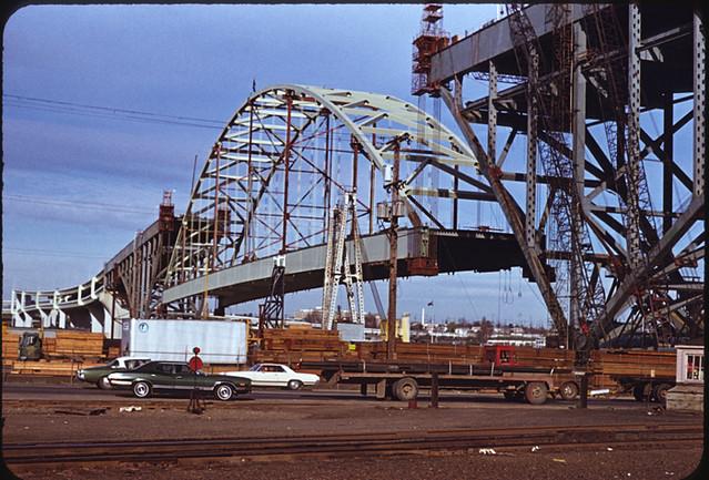 Fremont Bridge Construction Portland Or Photo By Calvin