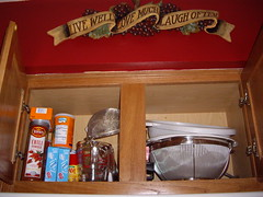 Spice Cabinet - Over the Stove - Before