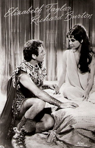 Richard Burton and Elizabeth Taylor in Cleopatra (1963)