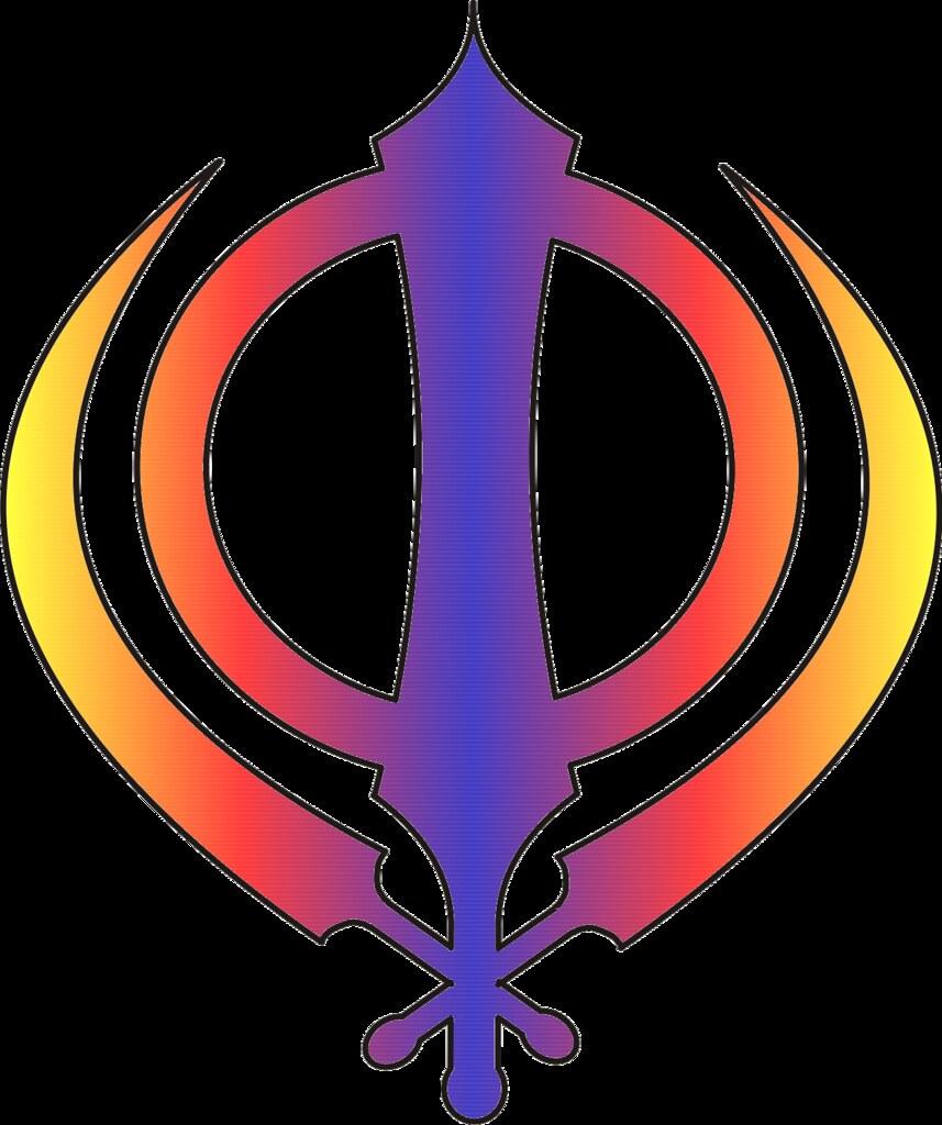 Sikh symbol - Khanda - multicoloured Blue, red & yellow | Flickr