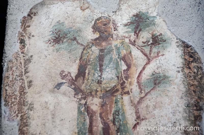 pinturas eróticas en la visita a Pompeya