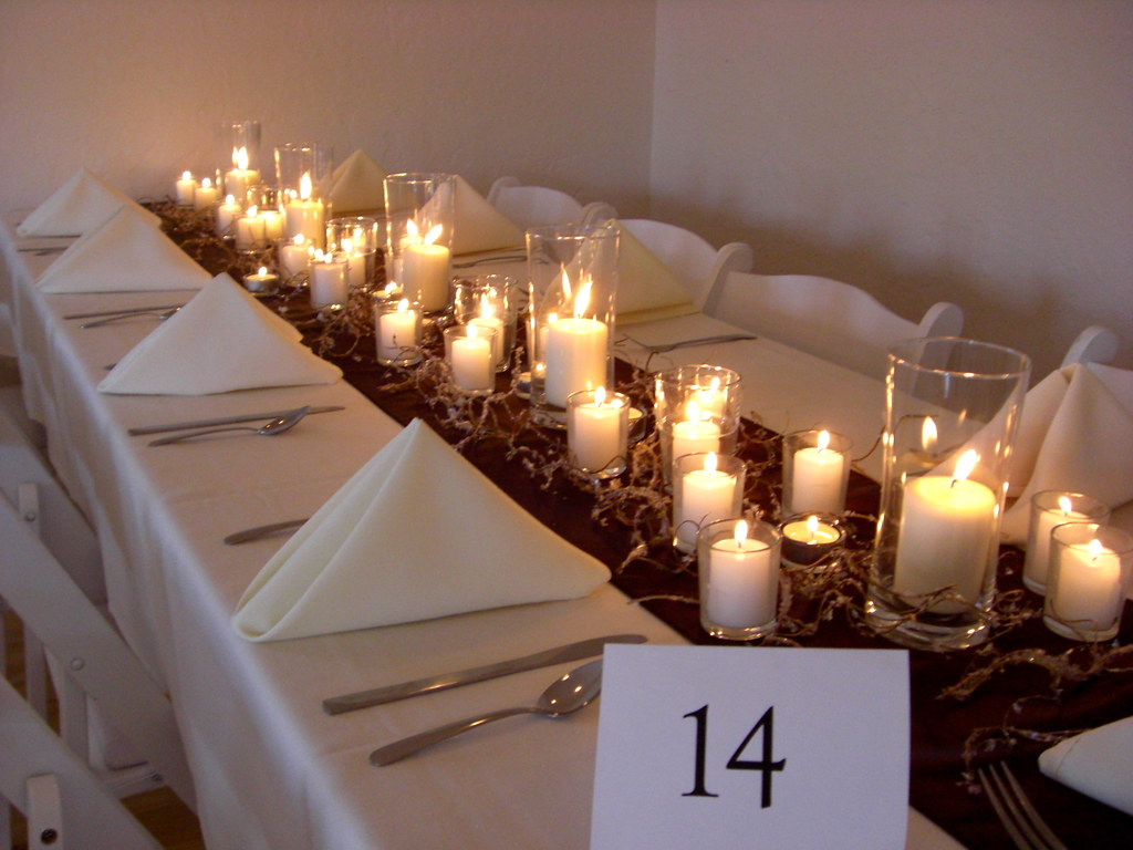 Long table candle decorations wedding sugar envy flickr
