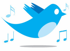 Twitter Bird With Music Notes | by Salon de Maria