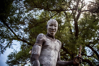 mursi tribe man with the body painting | by anthony pappone photography