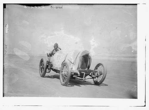 "[Race car driver Bob Burman and his ""Blitzen Benz""]  (LOC) 