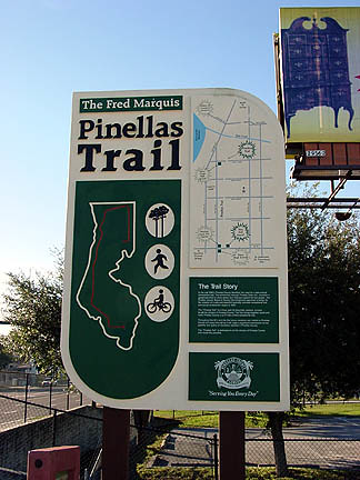 Fred Marquis Pinellas Bicycle Trail sign
