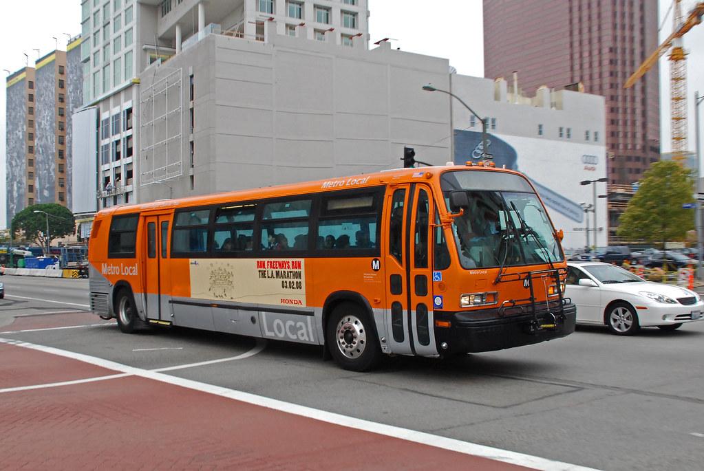 La Metro Bus Tmc Rts Bus Of La Metro On Olympic Blvd In