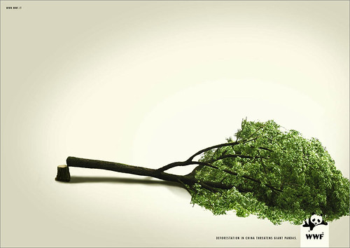 WWF Ad - Panda Deforestation | by point2click