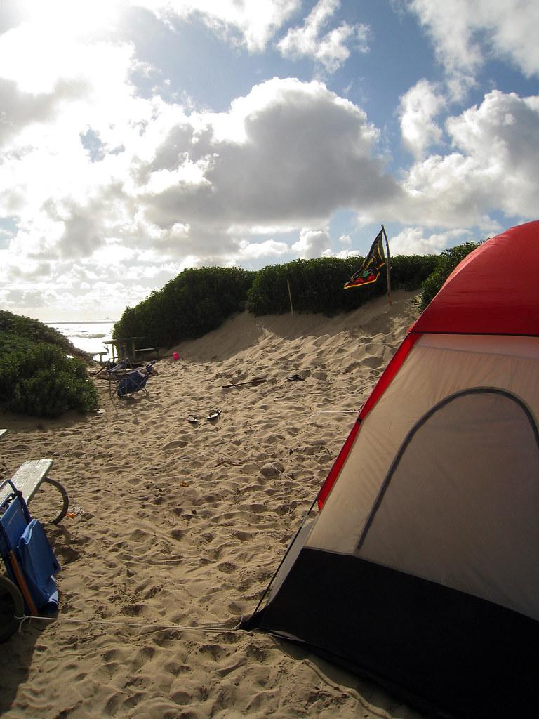 Camping Beach California Southern