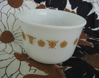 Pyrex Butterfly Gold Sugar Bowl | by JoulesVintage