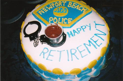 Newport Beach Police Retirement Cake Our School Resource