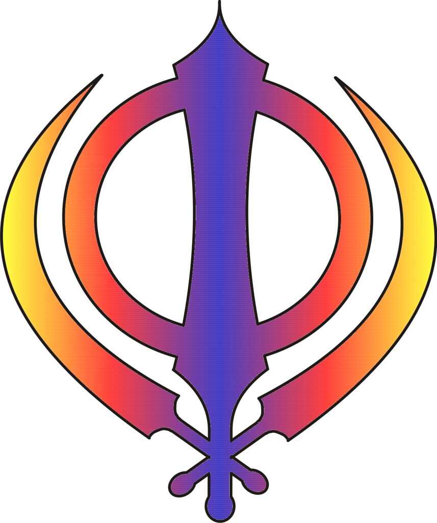 Sikh Symbol Khanda Multicoloured Red Blue And Yellow Flickr