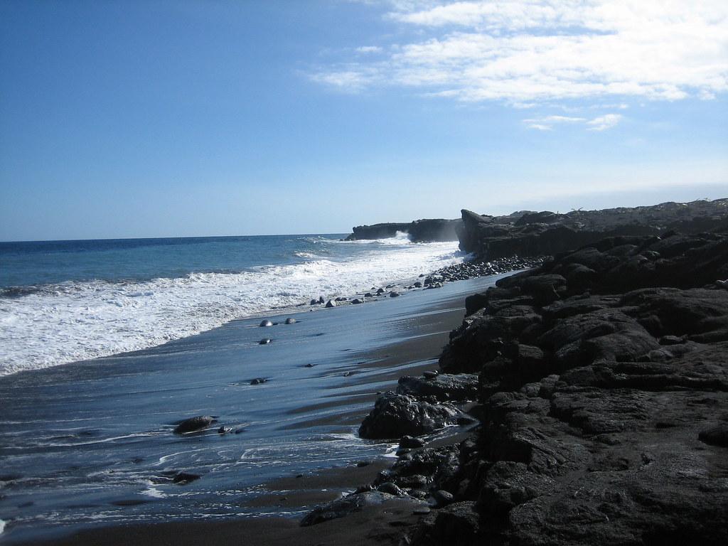 Lovely Black Sand Beach Near Kalapana Clive Milone Flickr