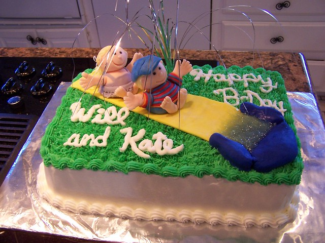 Slide Birthday Cake