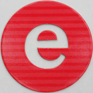 coloured card disc letter e | by Leo Reynolds