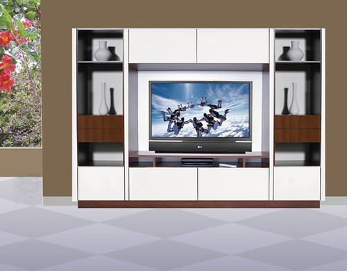 Joseph wall unit for table top tv joseph wall unit for for Living room furniture wall units collection