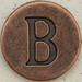 Copper Uppercase Letter B