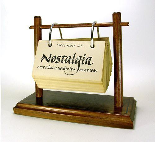 Calendar Wood Stand : Eternal calendar on a wooden stand because these