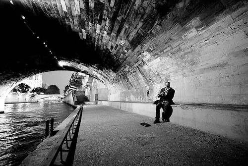 Flute Player under the Bridge | by Hixair