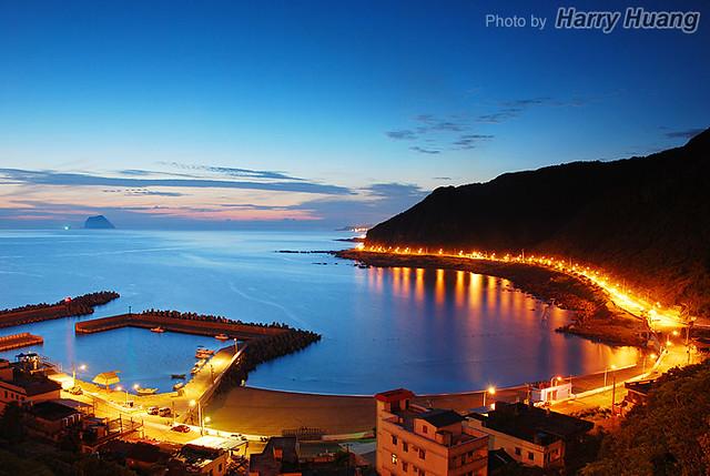 The DAWN of a Small Fishing Port, Dawulun, Keelung, Taiwan 大武崙漁港-清晨-日出-基隆市-港口-港灣-漁村-基隆