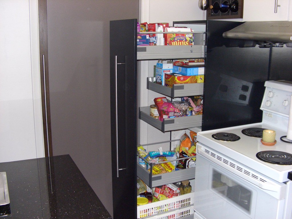 pull out pantry door and pull out shelves pantry is